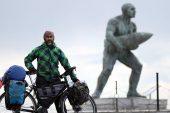 85 bin kilometre kat edip Çanakkale'ye geldi