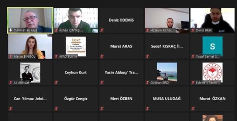 Edirne'de, İl Afet Risk Azaltma Planı kapsamında eğitimler başladı
