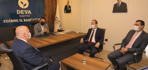 DEVA Partisi İl Başkanı Arda'yı ziyaret ettiler