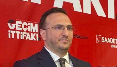"""Saadet Partisi İl Başkanı Tekin; """"Vatandaşlarımız destek bekliyor"""""""
