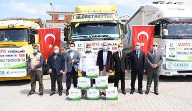 İdlib'e 3 tır yardım malzemesi