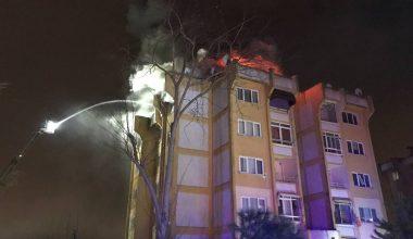 Apartmanın çatısında yangın!