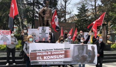"""Çorlu'da Vatan Partisinden, """"Soykırım"""" kınaması"""