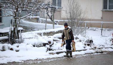 Trakya'da Nisan ayında kar…