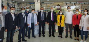 Aksal ve Helvacıoğlu'ndan nöbetçi eczane ziyareti