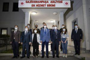 Bakan Gül, İstanbul Havalimanı'ndaki adliyede nöbetçi yargı mensubu ve personelle sahur yaptı