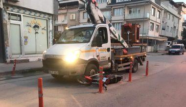 Kaza sonrası motosiklet sürücüsü ağır yaralandı!