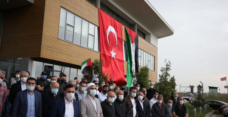 İsrail polisinin Mescid-i Aksa'da cemaate saldırması Bursa'da protesto edildi
