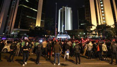 İsrail'in İstanbul Başkonsolosluğu önünde protesto!