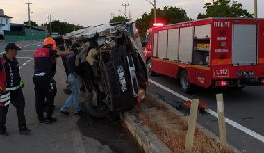 Sığınmacıları taşıyan kamyonet kaza yaptı… 1 ölü, 2 yaralı!