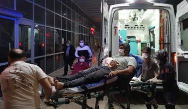 Yük rampasına kolu sıkışan işçi yaralandı