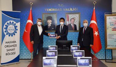 Malkara OSB'den öğrencilere 100 tablet