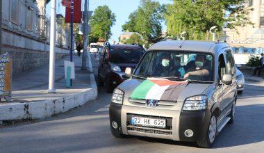 Trakya'da İsrail'in Filistinlilere saldırıları konvoy oluşturularak protesto edildi