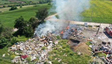 Çöplük alanda yangın!