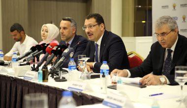 AK Parti milletvekilleri basınla bir araya geldi