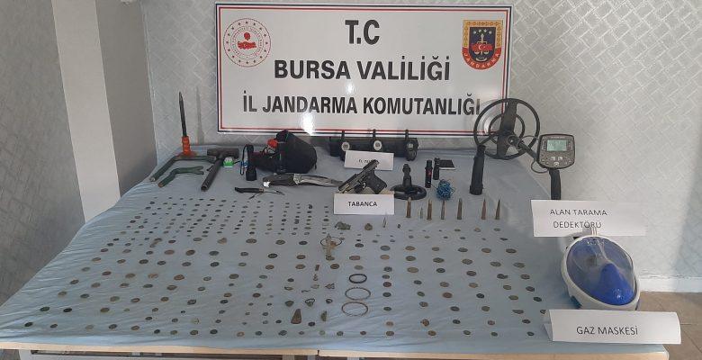 Bursa'da tarihi eser operasyonunda bir şüpheli yakalandı