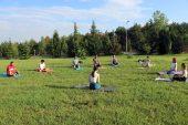 Dünya Yoga Günü'nünde kampüste yoga yaptılar
