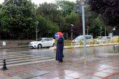 Edirne'de sağanak… Zaman zaman etkili oluyor