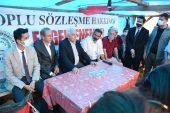 Perinçek, Tekirdağ'da grevdeki işçileri ziyaret etti