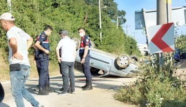 Takla atan otomobilin sürücüsü öldü!