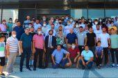 Kırkpınar başpehlivanlarından Aktürk, Lapseki'de törenle karşılandı