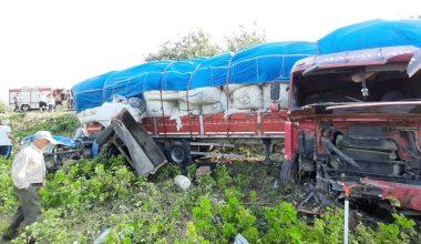 Tır ile traktör çarpıştı: 5 yaralı