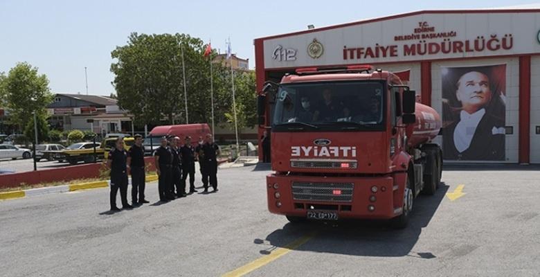 Muğla'daki yangınlara müdahale için bir itfaiye ekibi daha yola çıktı