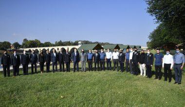 Edirne'de bir üst rütbeye terfi eden emniyet mensupları için tören düzenlendi