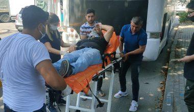 Kamyonet ile taksi çarpıştı: 2 yaralı!