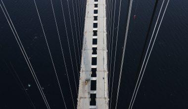1915 Çanakkale Köprüsü 318 metre yükseklikten görüntülendi