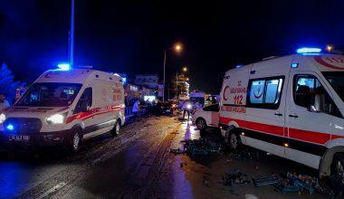 Kamyonet ile otomobilin çarpışması sonucu iki kişi yaralandı