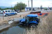 Tırın çarptığı traktördeki 5 kişi yaralandı