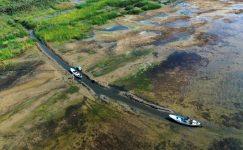 İznik Gölü'nün bazı bölümlerinde su kıyıdan 30 metre çekildi