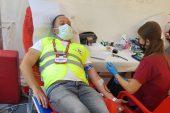 Vefa destek grubundan kan bağışı