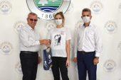 Milli sporcu Pamuk, Helvacıoğlu'nu ziyaret etti