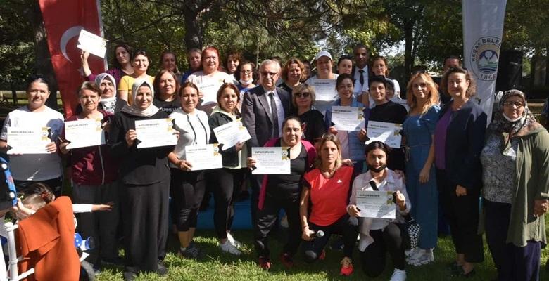 Açık Hava Egzersiz Programına katılanlara sertifika
