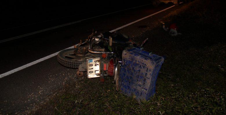 Motosikletten düşen sürücü ağır yaralandı