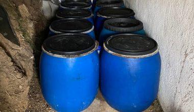 Bağ evinde 3235 litre sahte içki bulundu