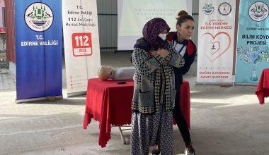 Edirne'de köy sakinlerine ilk yardım eğitimi