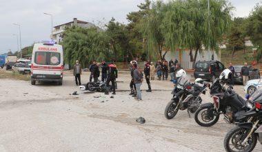 Olay yerine giderken kaza geçiren Polis yaralandı