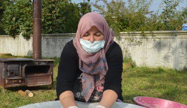 Köylü kadınların ürettiği doğal ürünler sofraları süslüyor